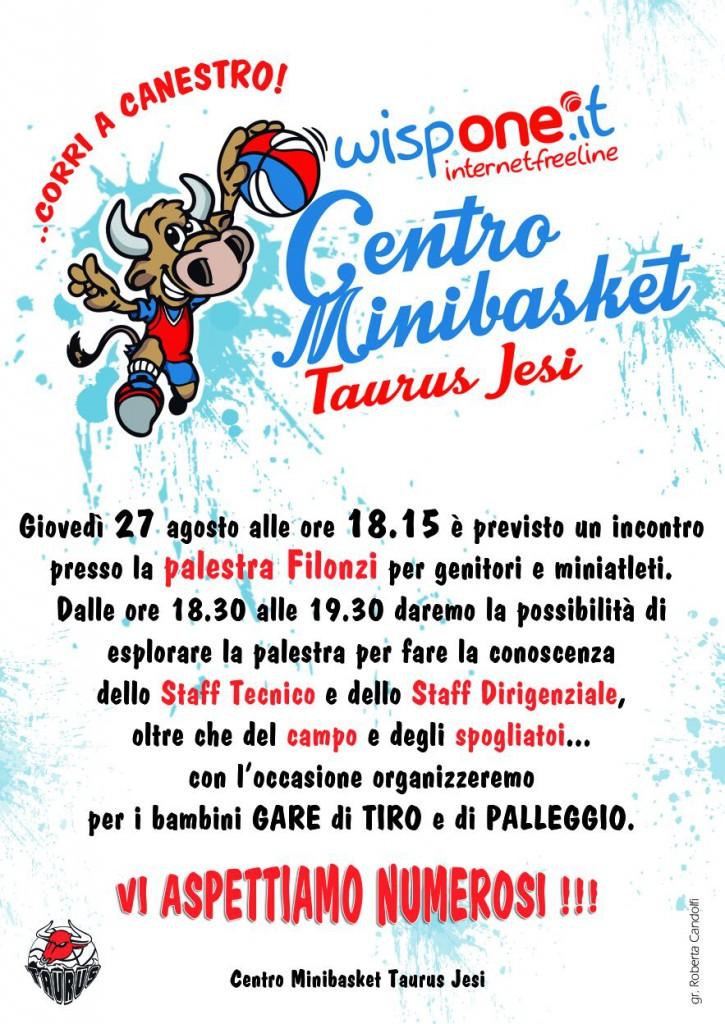 Volantino Centro Minibasket Taurus Jesi
